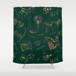 Magic symbols Shower Curtain