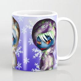 chibi dark elf with snowflakes Coffee Mug