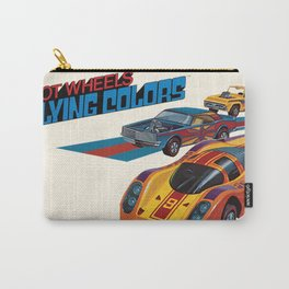 Vintage 1974 Hot Wheels Flying Colors Redline Vintage Poster Carry-All Pouch