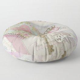 Shabby Chic Love Romantic Decor - Love Skeleton Key Prints Home Decr Floor Pillow