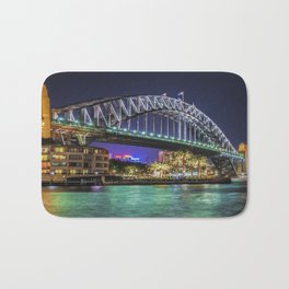 Sydney Harbor Bridge at Night Bath Mat