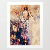 christ Art Prints featuring  Jesus Christ by jbjart