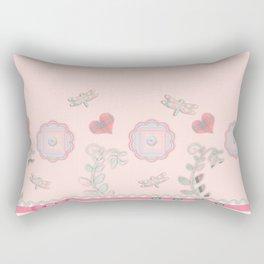 Buttons and Bows Border Print Rectangular Pillow