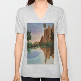 Cliffside Reflections Unisex V-Neck