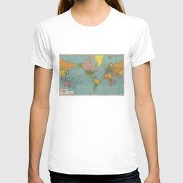 Standard Map of the World (1942) T-shirt