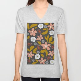 Dark flower dreams Unisex V-Neck