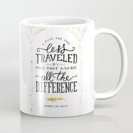The Road Not Taken By Robert Frost Coffee Mug