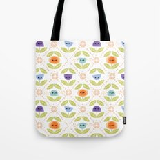 Mod Flowers Tote Bag