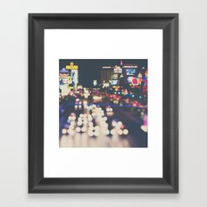 Las Vegas ... the neon town!  Framed Art Print