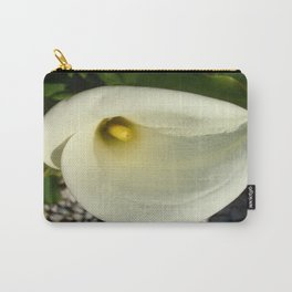 Overhead Shot of A Cream Calla Lily In Soft Focus Carry-All Pouch