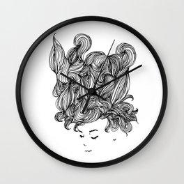 Daydreaming Hair Wall Clock