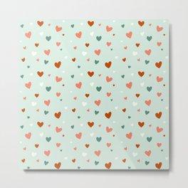 Valentines Hearts Metal Print