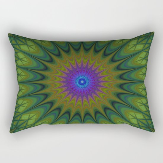Nature mandala Rectangular Pillow