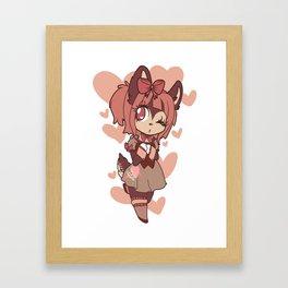coffee deer sweetheart Framed Art Print
