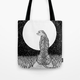 Cheetah Moon Tote Bag