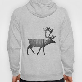 Moose Silhouette | Forest Photography Hoody