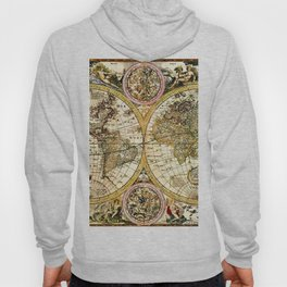 Gorgeous Old World Map Art from 15th Century Hoody
