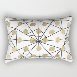 Black faux gold geometrical chic polka dots Rectangular Pillow