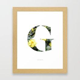 LL Series: G Framed Art Print