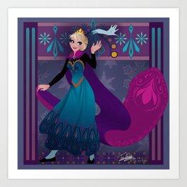 Frozen Elsa Coronation Art Print