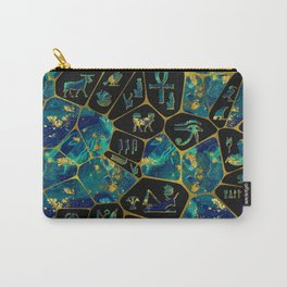 Egyptian  Gold and Marble Voronoi diagram Carry-All Pouch