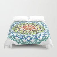 ohm Duvet Covers featuring Ohm-dala by SRC Creations