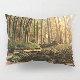 Forest Mountain Wanderlust Boardwalk - Nature Photography Pillow Sham