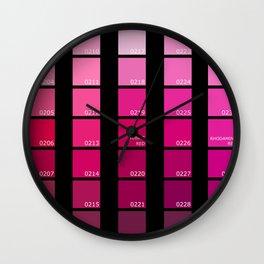 Shades of Pink Pantone Wall Clock