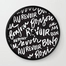 Bonjour Au Revoir Wall Clock