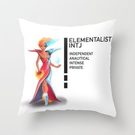 INTJ Elementalistist  Throw Pillow