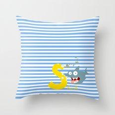 s for shark Throw Pillow