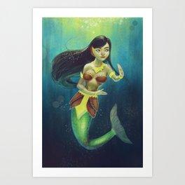 Souvannamacha the Lao Mermaid Art Print