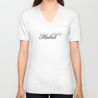 madrid V-neck T-shirts featuring Madrid by Blocks & Boroughs