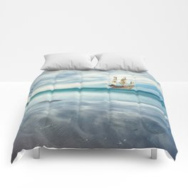 Ship at Sea Comforters