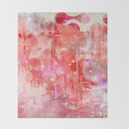 Modern contemporary pastel Blush and Peaches Abstract Throw Blanket