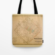Civil War Washington D.C. Map Tote Bag