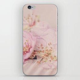 Romantic Soft Pink Peach Blossom iPhone Skin