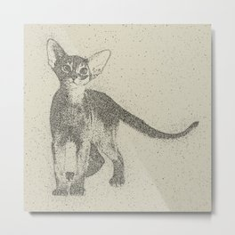 Abyssinian kitten dotted art Metal Print