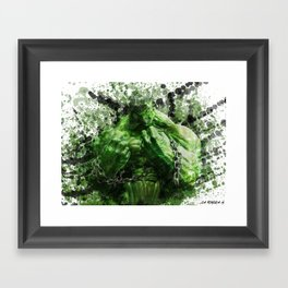 Green Hero Framed Art Print