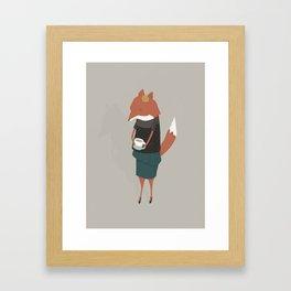 Audrey Enjoys Her Cup of Tea Framed Art Print