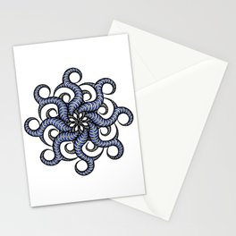 Reverse in blue Stationery Cards