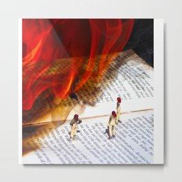 The False Prophet (This Burning World 1) Metal Print