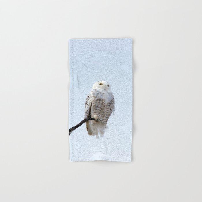 Lofty Vision (Snowy Owl) Hand & Bath Towel