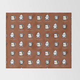 Hot Drinks (Brown) Throw Blanket