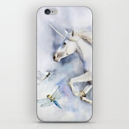 Unicorn in the Clouds, Dragonflies iPhone Skin