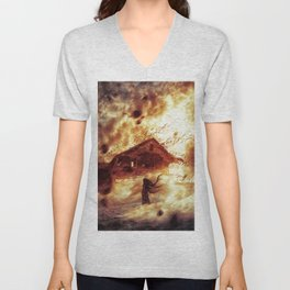 And Now... Kiss The Burning Darkness Unisex V-Neck