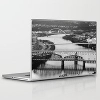 pittsburgh Laptop & iPad Skins featuring Pittsburgh bridges by Jaclyn Scott
