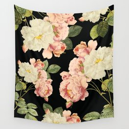 Flora temptation - night Wall Tapestry
