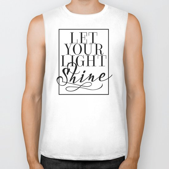 Let Your Light Shine 1 Biker Tank