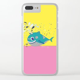 Hugo the Whale Clear iPhone Case
